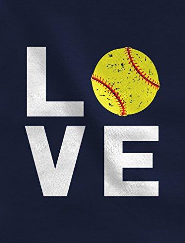 TeeStars - Love Softball - Gift for Softball Fans Youth Hoodie Medium Gray by Tstars (Image #2)