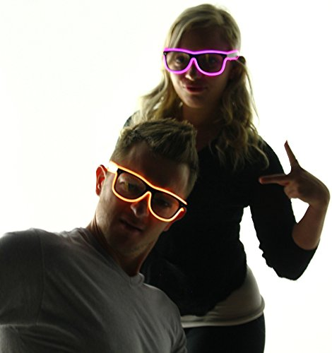 Light Up El Wire Glasses (Tron Costume Light Up)