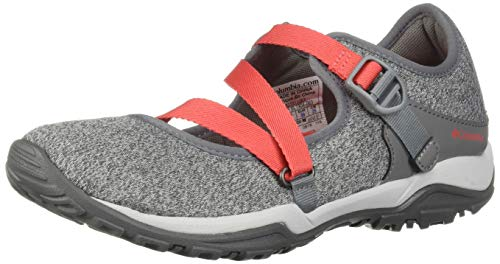 Columbia Women's FIRE Venture Mary Jane II Knit Flat, Grey ice, red Coral 6.5 Regular ()