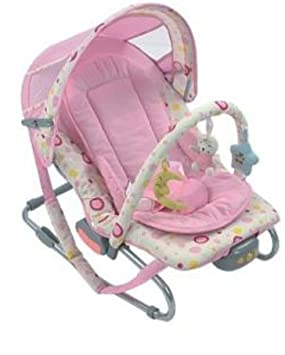 Baby Toddler Kids Girl Rocker Bouncer Toys Vibration Soothing Chair Pink New