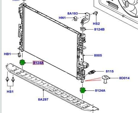 LAND ROVER RADIATOR LOWER INSULATOR LR2 R.R EVOQUE SPORT 15 ON SET 2 LR000242