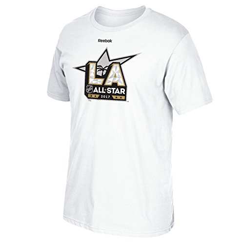 Adidas All Star Shirt - NHL 2017 All Star Game Men's Official Logo Short Sleeve Tee, XX-Large, White