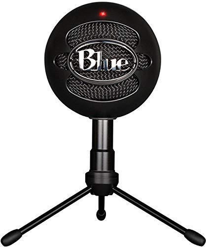 Blue Snowball iCE Condenser Microphone, Cardioid - Black (Best Setup For Twitch)