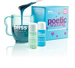 bliss Poetic Microwaveable Waxing Kit | Stripless at-Home Hair Removal | Short, Coarse Hair on Face or Body | Used in Our Spas