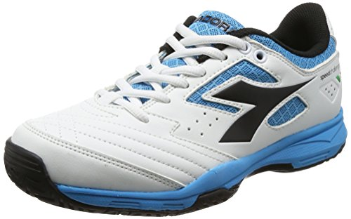 Diadora S.Challenge Ag, Chaussures de Tennis Mixte Adulte Bianco (Bianco/Nero/Blu Fluo)