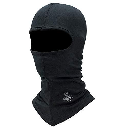 RefrigiWear Flex-Wear Lightweight Lined Long Neck Open Hole Balaclava Face Mask (Black, One Size Fits All) ()
