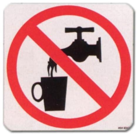Cartel - sin agua potable - pictograma según DIN 4844-2 ...