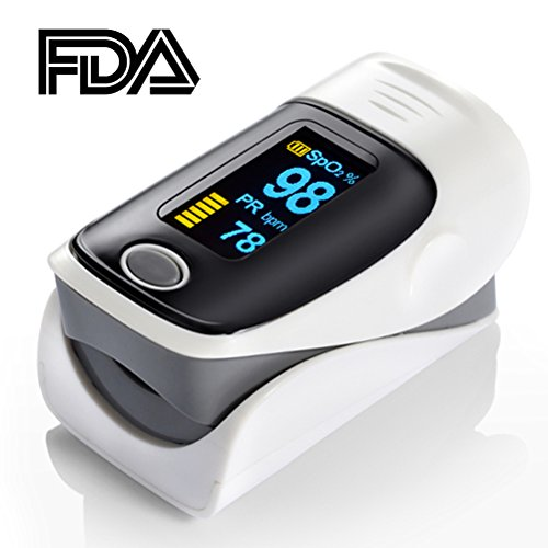 Elera Gray Color Fingertip Pulse Oximeter Oximetry Finger Oximeter Blood Oxygen Saturation Monitor FDA CE ISO Approved by ELERA