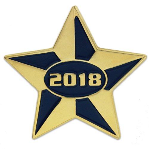 PinMart's 2018 Blue and Gold Star Class of School Graduation Enamel Lapel Pin supplies