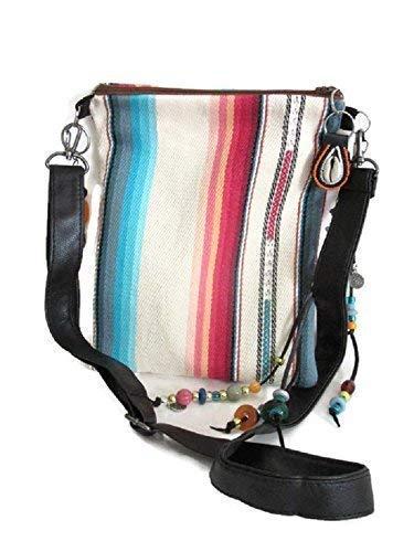 Leather Shoulder Bag Beaded (Native American Style Crossbody Bag Southwest)
