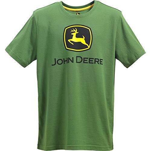 John Deere Boys' Big Logo Tee, Green, Small (8) - John Deere Boys T-shirt
