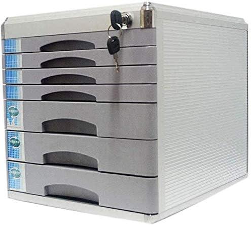 ファイルキャビネットロック可能なアルミ合金の機密保管室はバックル空白ラベルアンチオフソリッドメタル用品 ファイリングキャビネット (Color : Grey, Size : 7-layers)