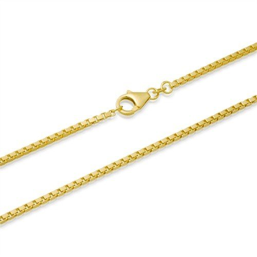 fancy long anklet filled made pin in xl anklets real plated italy gold clear bracelet beads inch genuine