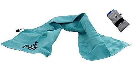 YISAMA Toalla de Microfibra Compacta,Secado Rapido Ideal para Gimnasio,Camping,Tenis,Padel,Bicicleta y Golf Color Azul: Amazon.es: Deportes y aire libre