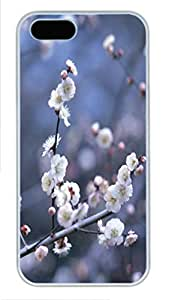 iPhone 5S Case and Cover -Blooming white flowers PC case Cover for iPhone 5 and iPhone 5s ¨C White