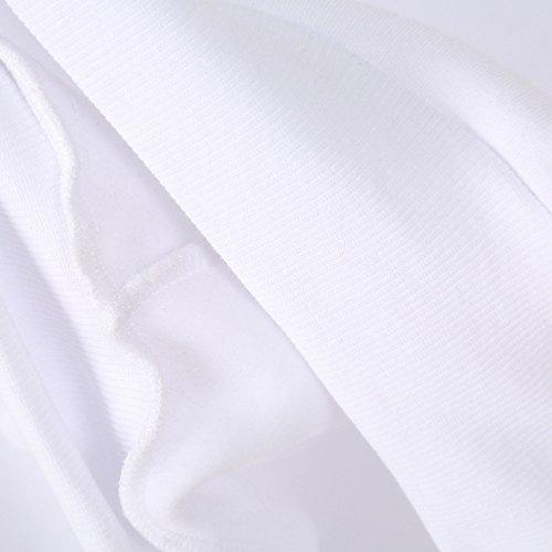 T Tuniche Hoodies Sweatshirt Shir Felpa Blusa Donna di Bianco Camicetta Pullover Felpe Corte Crop Tunica Felpe Ricamo Maniche Top Top con Cappuccio sciolte Lunghe Striscia Donna wxxTazO1Uq