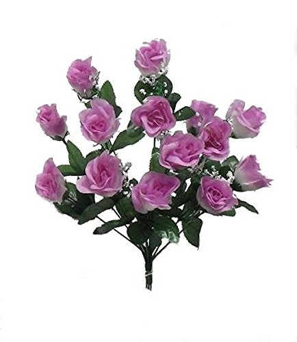 Long Stem Lilac - Artificial Garden 14 Long Stem Roses Lavender Lilac Silk Flower Floral Arrangements Wedding Centerpieces Flowers Bouquets DIY