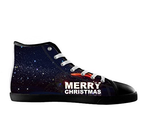 Christmas Theme Ladys Nonslip Black High Top Canvas Shoes Christmas Canvas Shoes02 UIE5s