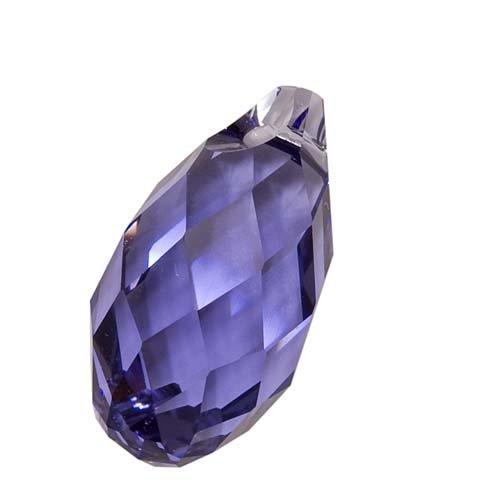 Swarovski Crystal, 6010 Briolette Pendant 17x8.5mm, 1 Piece, Tanzanite - Faceted Briolette Pendant Bead