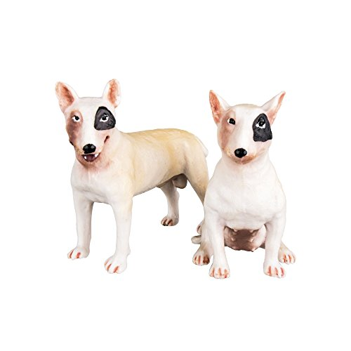 Figurine Terrier (TOYMANY Bull Terrier Figurines, Realistic Dog Toy Figures)