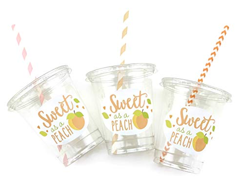 - Sweet as a Peach Party Disposable Cups (12 Set)