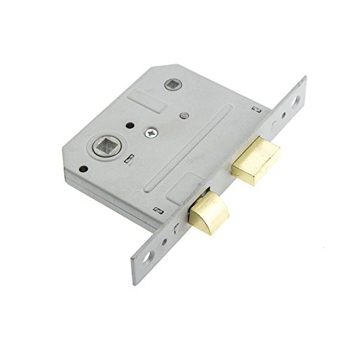 Sterling MLB325 2.5-inch/65mm 3-Lever Bathroom Sashlock - Brass Sterling Door Locks