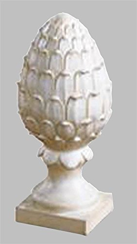 Pineapple Finial Statue in Dover White Finish