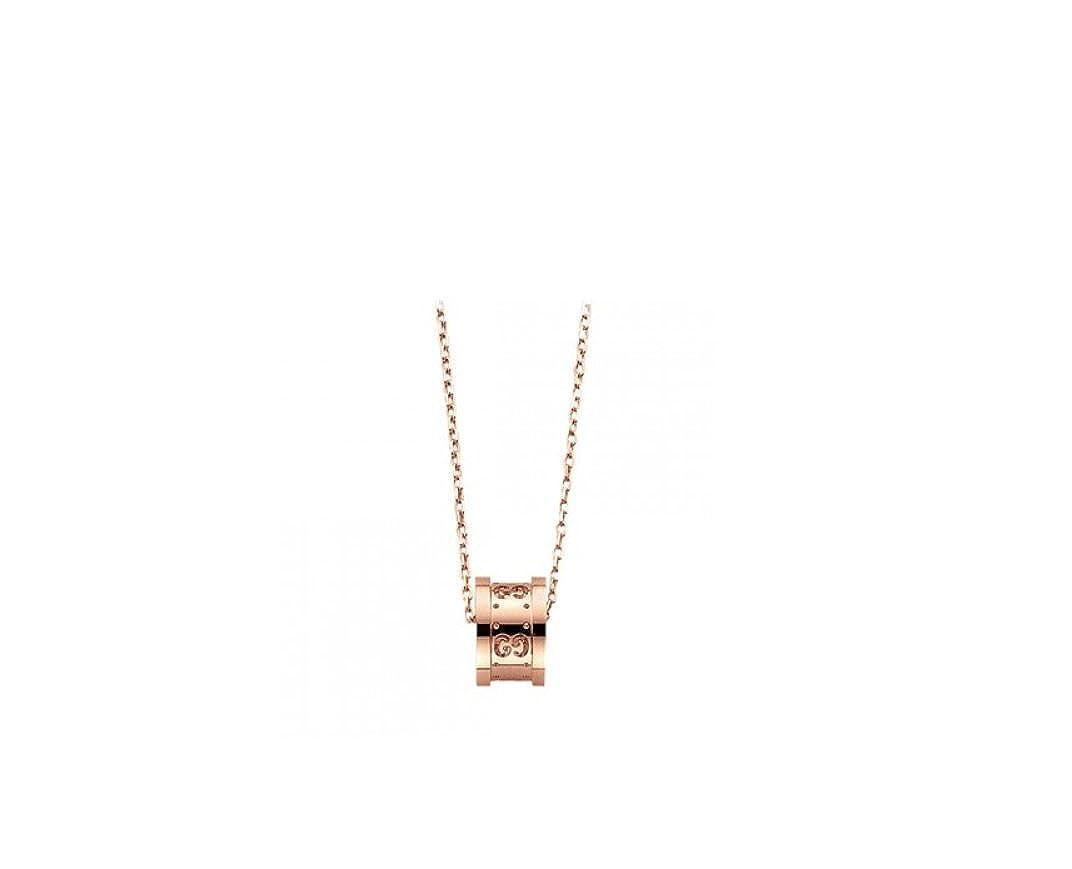 47b27801e Amazon.com: Gucci Icon Twirl Rose Gold Pendant Necklace - YBB214169001:  Jewelry