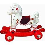 JJP 2-in-1Baby Horse Rider for Kids 1-5 Years Birthday Gift for Kids/Boys/Girls (Multicolour) (Red & White)