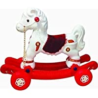 JJP 2-in-1Baby Horse Rider for Kids 1-5 Years Birthday Gift for Kids/Boys/Girls (Multicolour) (Red & White)