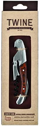 Country Home Rosewood Double Hinged Corkscrew by Twine