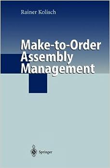 Make-to-Order Assembly Management