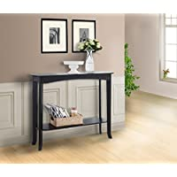 Pilaster Designs - Wood Entryway Console Sofa Occasional Table - Espresso Finish