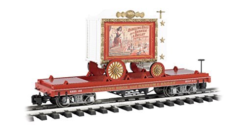 """Bachmann Flat Car with Tableau Wagon - Lady Artists #108 - Large """"G"""" Scale Rolling Stock Train"""