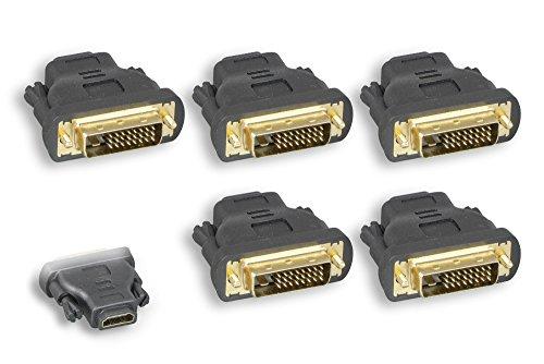 Cablelera HDMI Female to DVI Male Adapter 5 Pack (ZPK044SI-05)