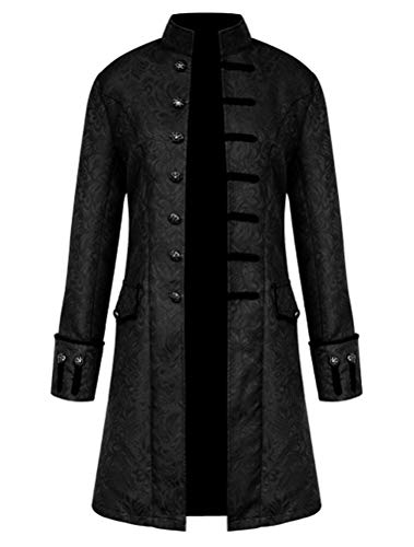 Amazon.com: ROBO Mens Vintage Long Gothic Steampunk Jacket ...
