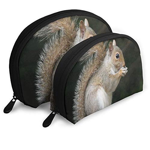 Pouch Zipper Toiletry Organizer Travel Makeup Clutch Bag Gray Squirrel Cute Portable Bags Clutch Pouch Storage Bags