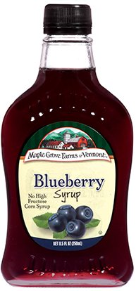 Maple Grove Farms Syrup Natural Blueberry 8.5 OZ (Pack of 3)