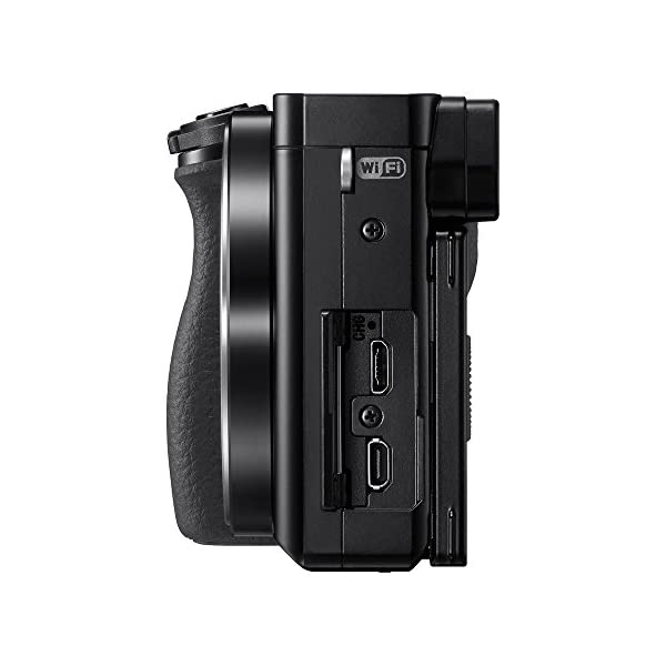 RetinaPix Sony Alpha ILCE 6000Y 24.3 MP Mirrorless Camera with 16-50 mm and 55-210 mm Zoom Lenses with MDR-XB550AP Headphones (Black)