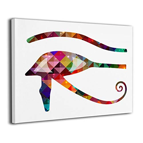 Roderickar Paintings Wall Art Eye of Horus Prismatic Modern Decorations for Living Room Bedroom Bathroom Home Decor for Living Room