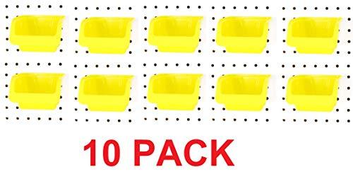 JSP Manufacturing Pegboard Bin Kit - Pegboard Parts Storage Craft Organizer Tool Peg Board Workbench Bins Accessories Pick A Pack Medium (10)