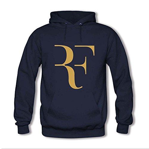 Congjun Shen Roger Federer Logo Custom Mens And Womens Sweatshirt Hoodie Medium Dark Blue