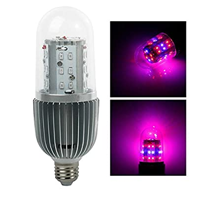 Derlights E27 Base Led Grow Light Bulb with Red & Blue SMD 360 Degree, AC 85-265V, Lighting for Indoor Plants Garden Greenhouse Hydroponic System Kit