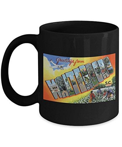 (Greetings from Walterboro South Carolina, Vintage Large Letter Postcard Design: Ceramic Coffee Mug)