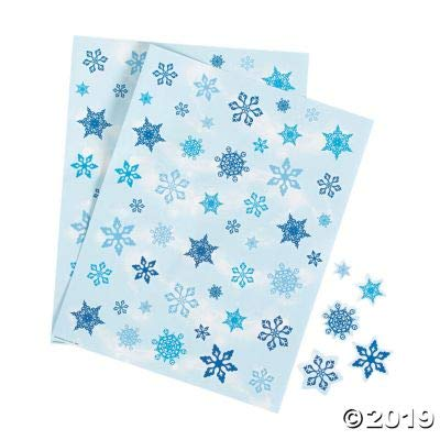 Fun Express Winter Sticker Sheets - Stationery - 12 Pieces: Toys & Games