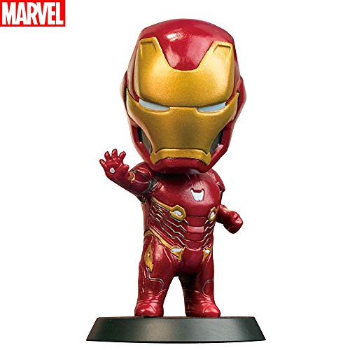Marvel Bobblehead Iron Man Marvel Endgame Bobble Head Marvel Action Figure Collectible Bobble Head Doll Perfect for Home, Car Decoration, 4 Inches (Marvel Certificate) ()