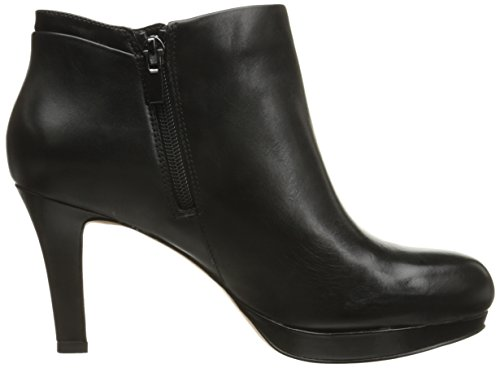 Delsie Clarks Leather Women's Bootie Stella Black Sq5fqwU