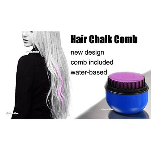 Hair Chalk Comb for Beautiful Salon Hair Highlights. Temporary Hair Color with Applicator. Hair Salon Toy for Pink Hair. Paint & Style Hair Care - No Need to Wet Hair. Ready in Minutes. high-quality