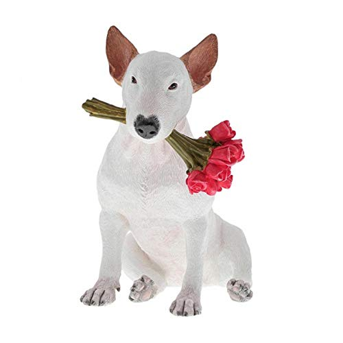 Jimmy the Bull Rafael Mantesso A29712 English Bull Terrier Red Roses Figurine