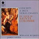 Concerts à deux violes esgales du sieur de Sainte-Colombe